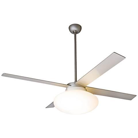 """52"""" Modern Fan Cloud Textured Nickel LED Ceiling Fan"""