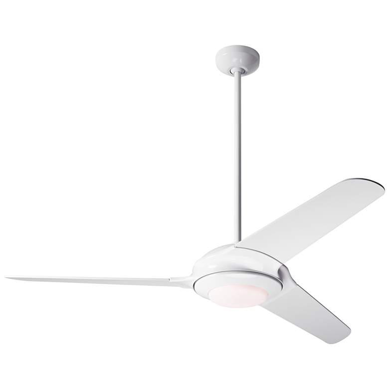 """52"""" Modern Fan Flow White LED Ceiling Fan"""