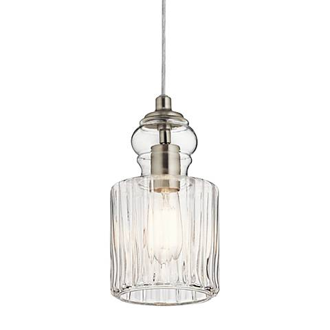 "Kichler Riviera 5 3/4"" Wide Brushed Nickel Mini Pendant"