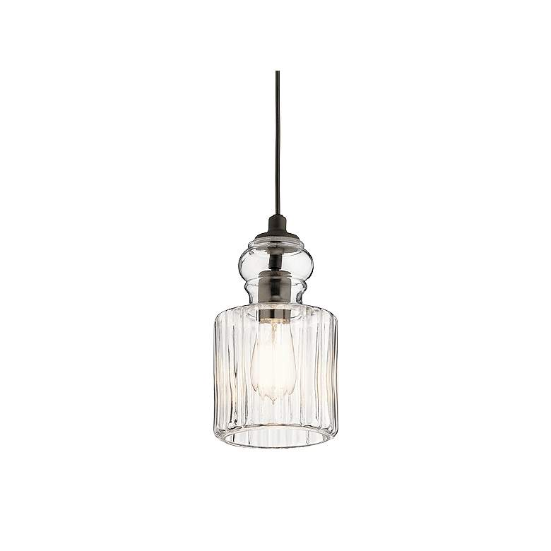 "Kichler Riviera 5 3/4"" Wide Oiled Bronze Mini Pendant"