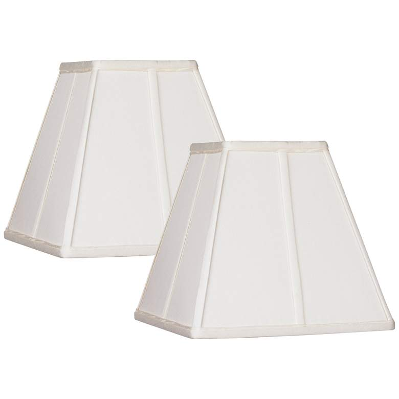 Set of 2 Ivory Classic Square Shades 5.25x10x9 (Spider)