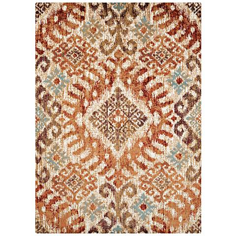 Bridges Verazanno Crimson Area Rug