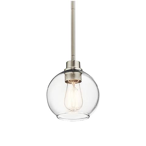 "Kichler Harmony 6 1/2"" Wide Brushed Nickel Mini Pendant"