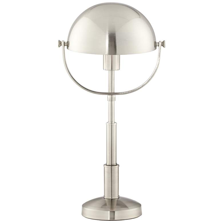 Aldon Brushed Steel Metal Dome Table Lamp