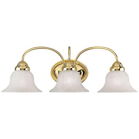 "Edgemont 23 1/2"" Wide Polished Brass 3-Light Bath Light"