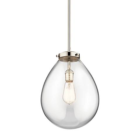 "Kichler Claudia 10"" Wide Polished Nickel Mini Pendant"