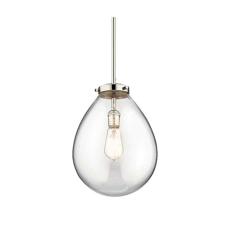 "Kichler Claudia 14"" Wide Polished Nickel Pendant Light"