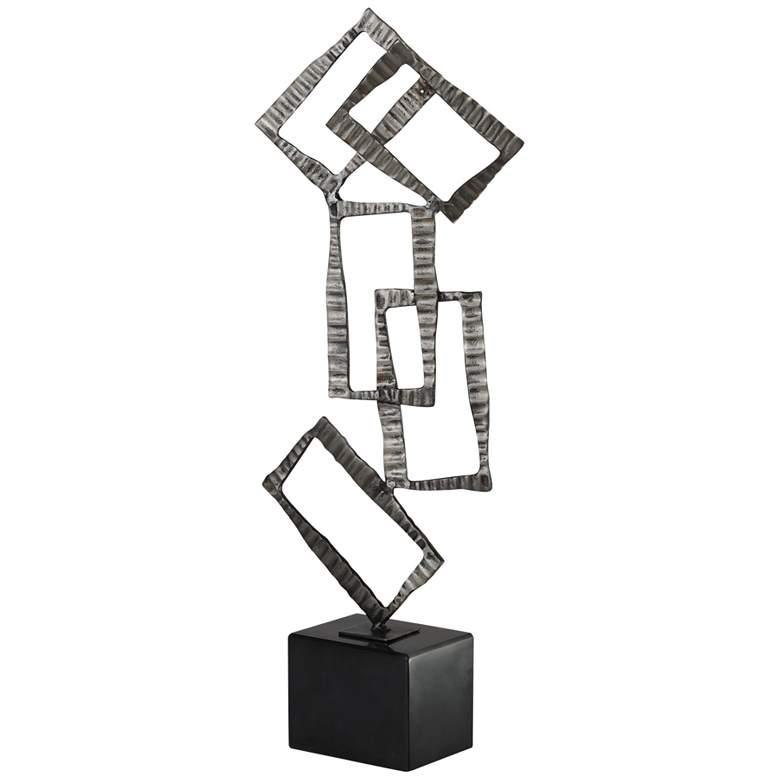 """Uttermost Talal 25 1/4""""H Antiqued Brushed Nickel Sculpture"""