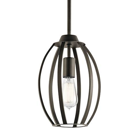 "Kichler Tao 8"" Wide Oiled Bronze Mini Pendant"