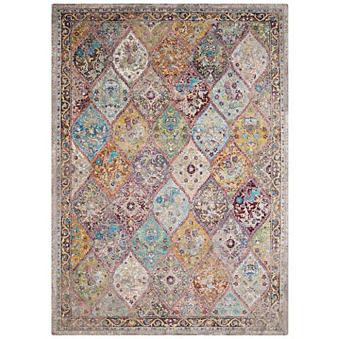 Rhapsody Nash Court Multi-Color Area Rug