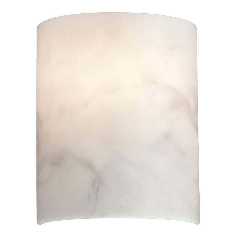"""Andalucia 10"""" High Alabaster Dust Glass Wall Sconce"""