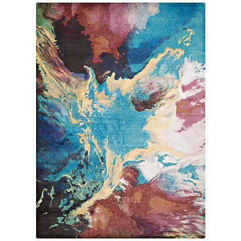 Rhapsody Nebula Multi-Color Area Rug