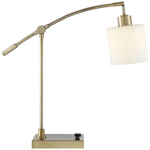 Kipling Desk Lamp with Oulet and USB Port