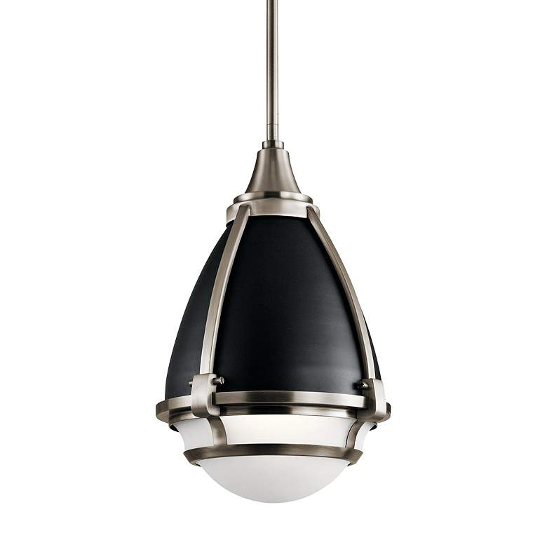 "Kichler Ayra 10"" Wide Classic Pewter Mini Pendant"