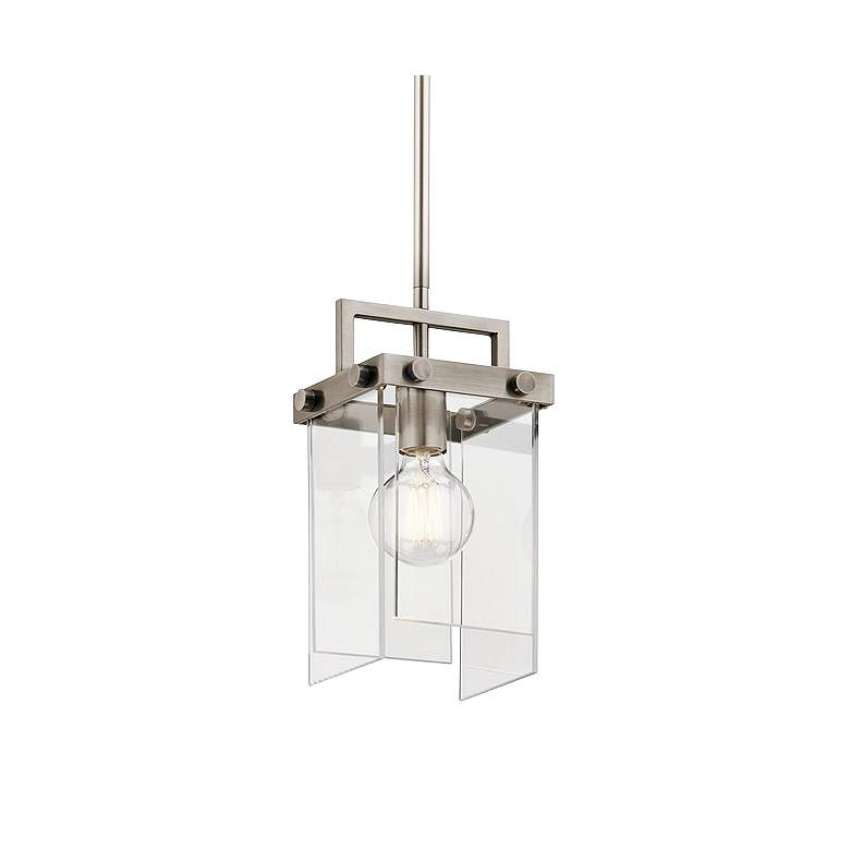 "Kichler Tiers 6 3/4"" Wide Classic Pewter Mini Pendant"