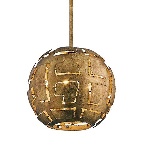 "Kichler Shefali 12 1/2"" Wide Pharaoh Gold Pendant"