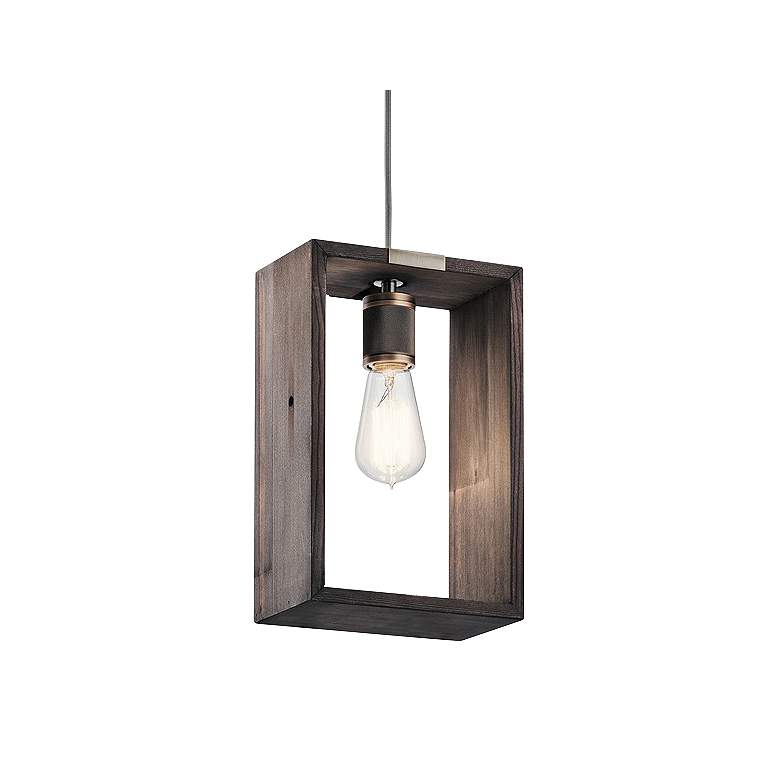 "Industrial Frames 7 1/2"" Wide Classic Pewter Mini Pendant"