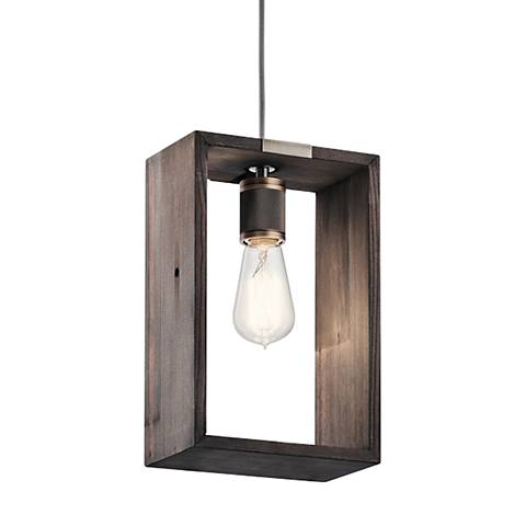 """Industrial Frames 7 1/2"""" Wide Classic Pewter Mini Pendant"""