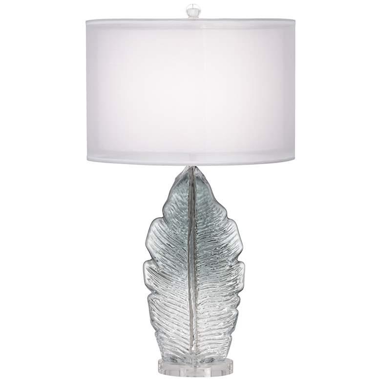 Arini Gray Leaf Table Lamp