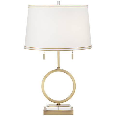 Giro Antique Brass Table Lamp