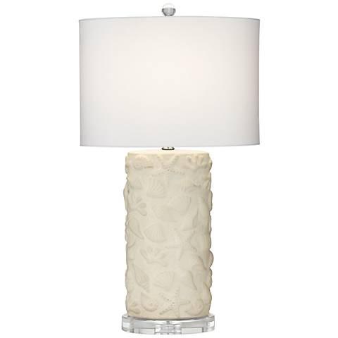 Gal Beige-Seashell Table Lamp