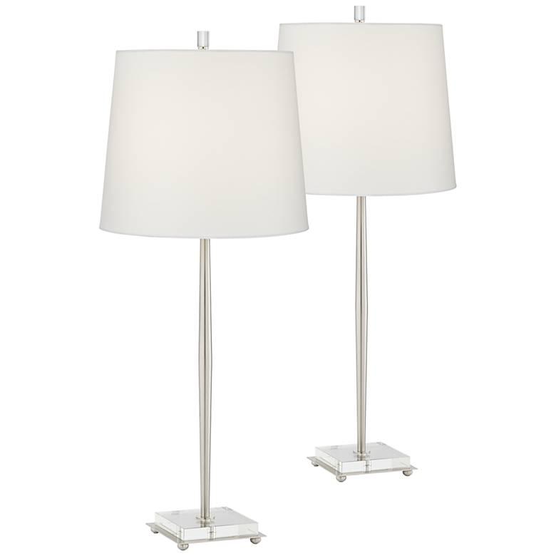 Steve Brushed Nickel Table Lamp Set of 2