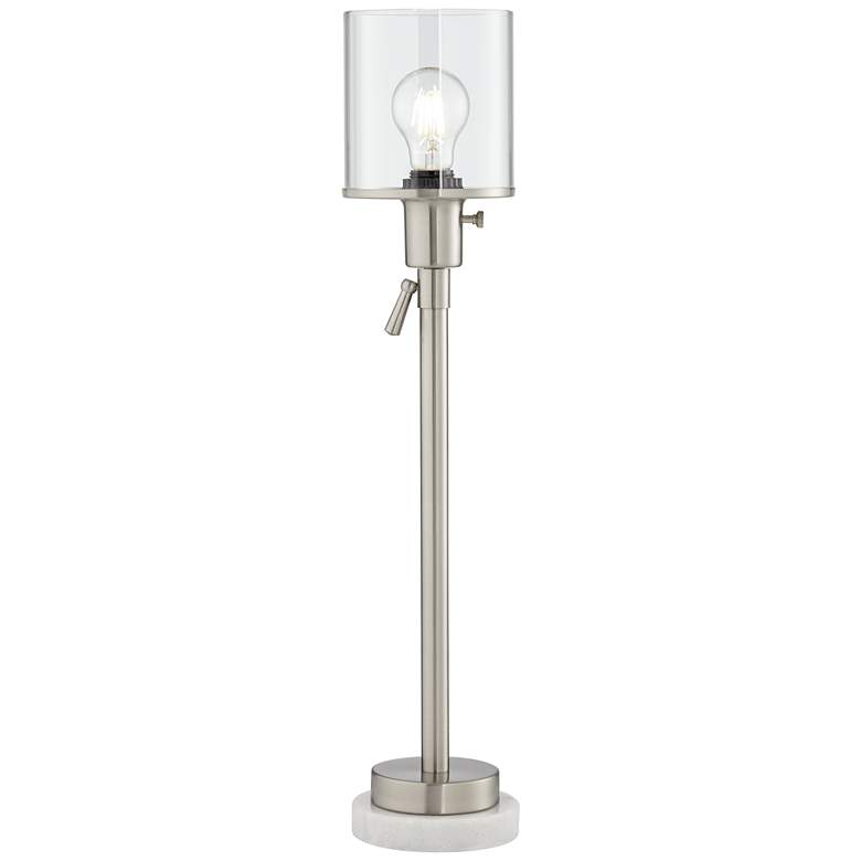 Paridiso Brushed Nickel Console Table Lamp