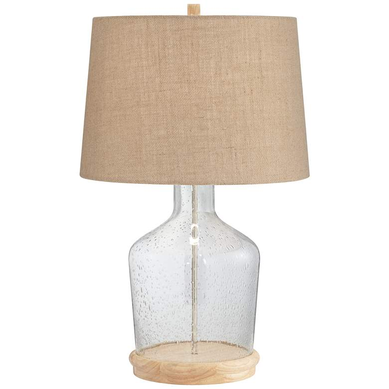Decora Clear Glass Fillable Table Lamp