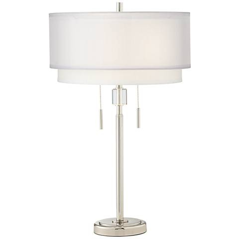 Claire Polished Nickel Table Lamp