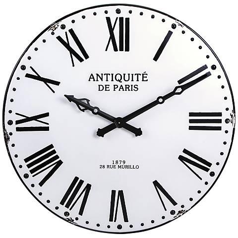 "Lesington Black 43 1/4"" Round Wall Clock"