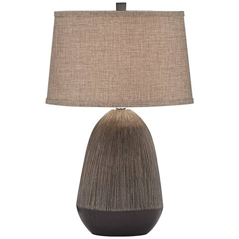 Alex Two-Tone Charcoal Table Lamp