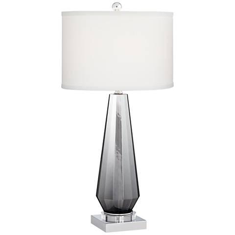 Charcoal Topaz Chrome Table Lamp