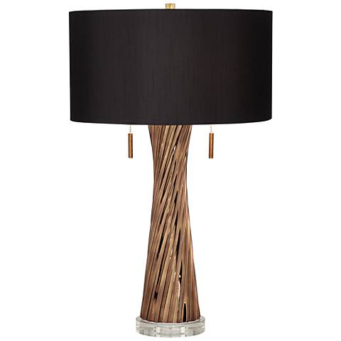Lombardy Brown Twist Table Lamp