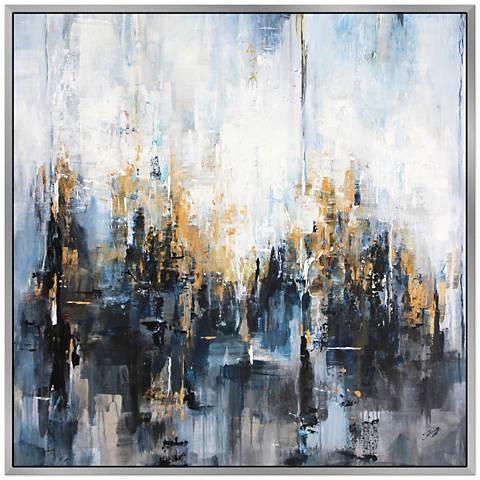 "Kharisma 40"" Square Framed Canvas Wall Art"