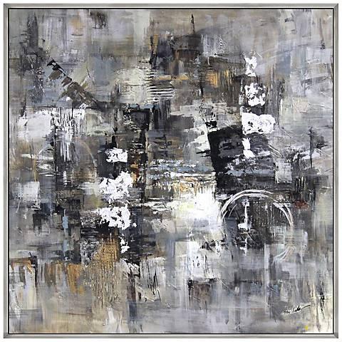 "Progression I 40"" Square Framed Canvas Wall Art"
