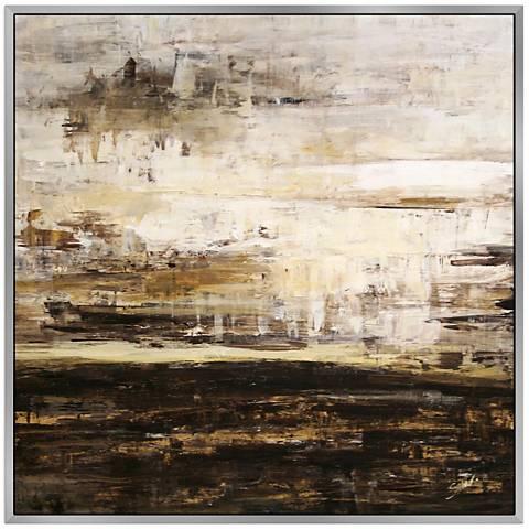 "Composite I 40"" Square Framed Canvas Wall Art"