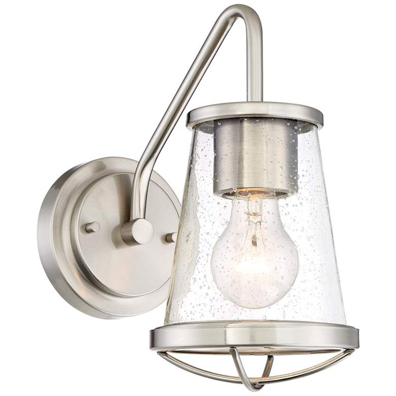 """Darby 10 1/4"""" High Satin Platinum Wall Sconce"""