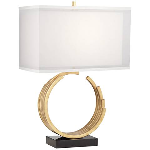 Riley Gold Leaf Table Lamp