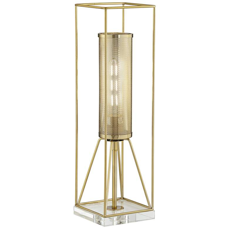 Kathy Ireland Welcome Home Gold Console Table Lamp