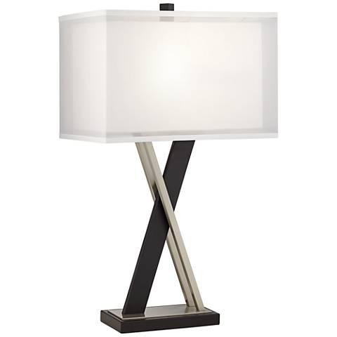Xavier Black X-Base Table Lamp