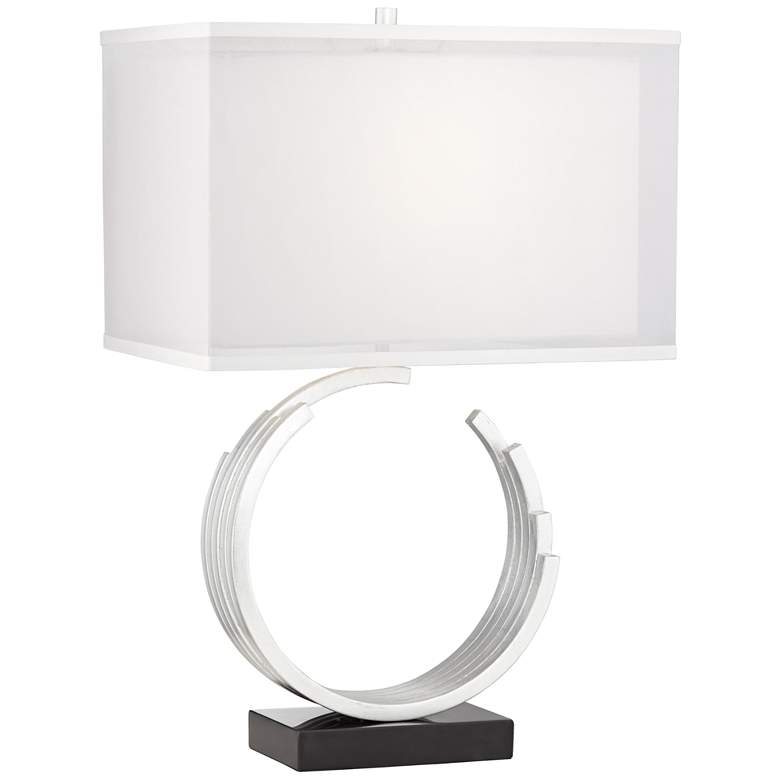 Riley Silver Leaf Table Lamp
