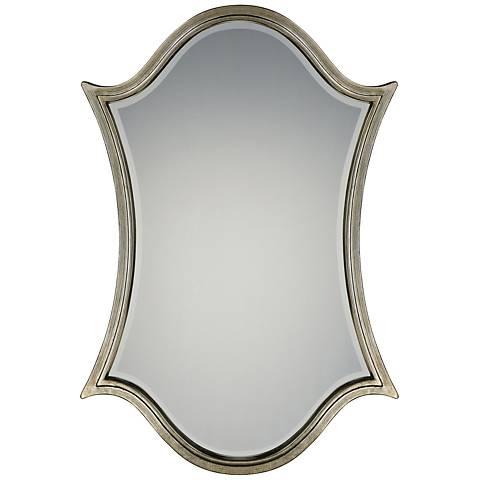"Quoizel Vanderbilt Century Silver Leaf 32"" x 48"" Wall Mirror"