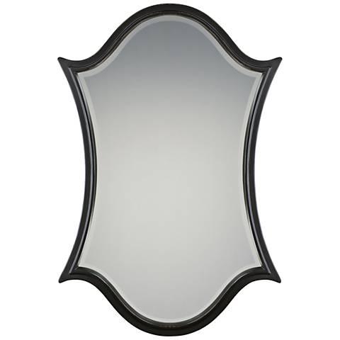 "Quoizel Vanderbilt Palladian Bronze 32"" x 48"" Wall Mirror"