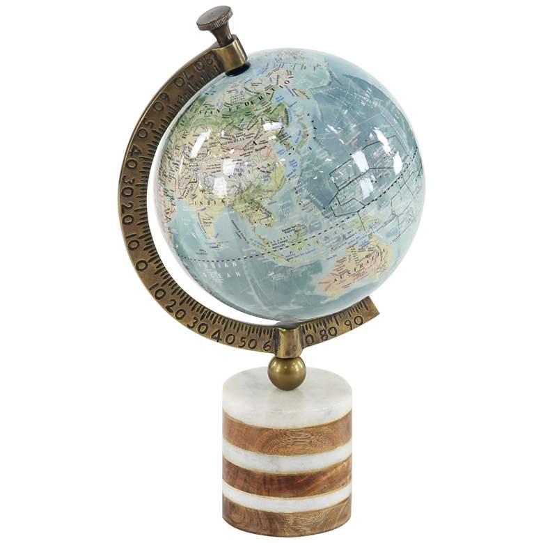 "World Travels 16"" High Blue Round Decorative Globe"
