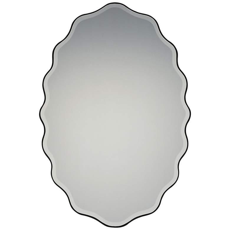 "Quoizel Artiste Earth Black 20"" x 30"" Wall Mirror"