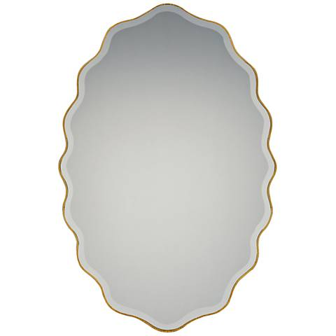 """Quoizel Artiste Gallery Gold 20"""" x 30"""" Wall Mirror"""