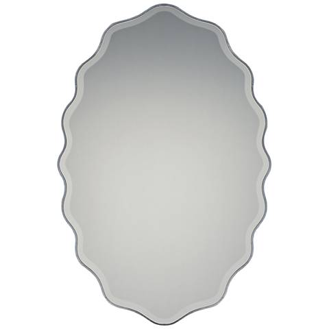 """Quoizel Artiste Pewter 20"""" x 30"""" Wall Mirror"""