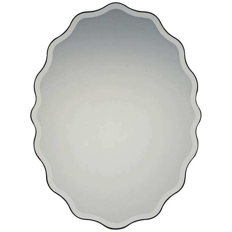 "Quoizel Artiste Earth Black 30 1/4"" x 40"" Wall Mirror"
