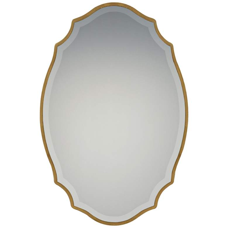 """Quoizel Monarch Gallery Gold 24"""" x 36"""" Wall Mirror"""