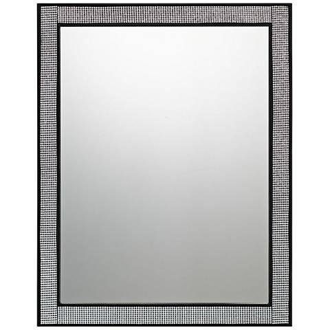 "Quoizel Evoke Mystic Black 22"" x 28"" Wall Mirror"